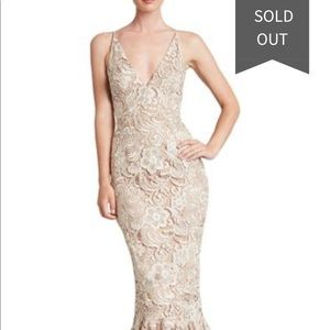 Dress the population Sophia crochet trumpet dress